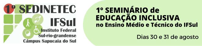 Banner - 1ª SEDINETEC